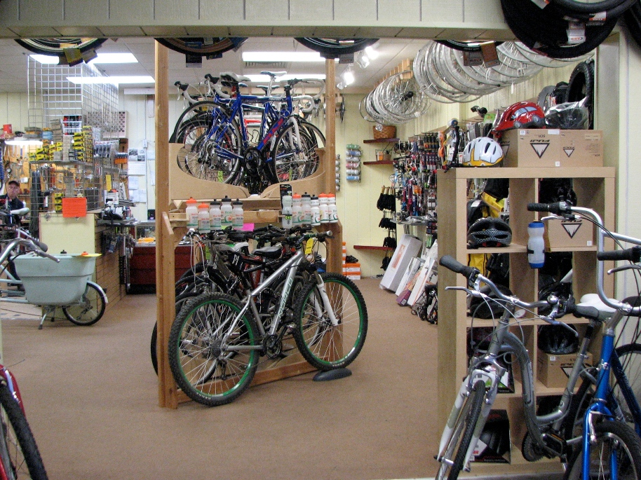Inside West Trails Bicycles